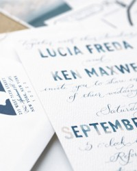 Custom Non-Traditional Digital Wedding Invitations from Swiss Cottage Design