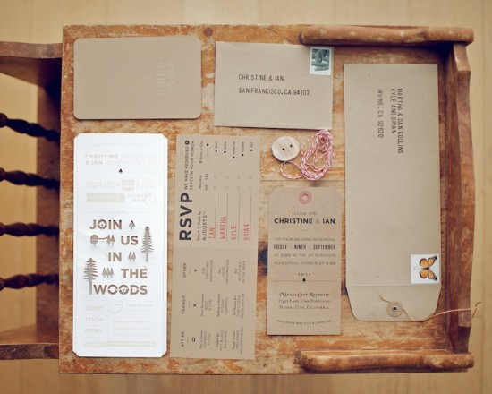 DIY-Woodland-Cutout-Wedding-Invitation-Suite