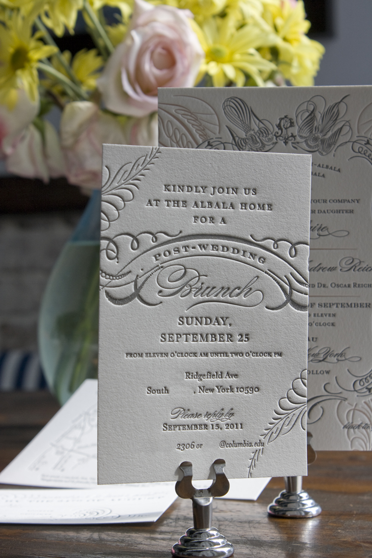 Ilene lawrence 39 s chateau inspired formal wedding invitations for Wedding brunch invitations