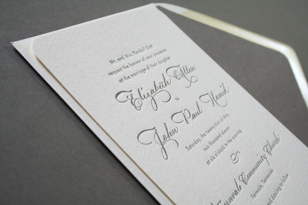 Elizabeth John 39 S Classic Calligraphy Wedding Invitations
