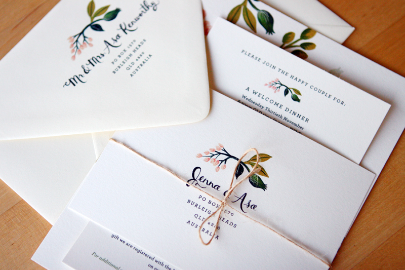 jenna + asa's floral wedding invitations from rifle paper co., Wedding invitations