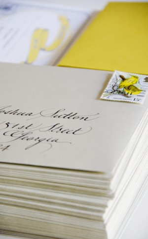 Yellow-Gray-Silhouette-Letterpress-Wedding-Invitations-Outer-Envelope