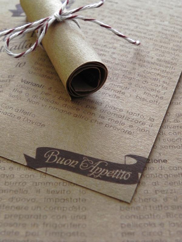 Giada + Davide\'s Kraft Paper and Lace Wedding Invitations