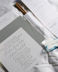Eco-Friendly Custom Classic Letterpress Wedding Invitations by Lilikoi Design + Letterpress