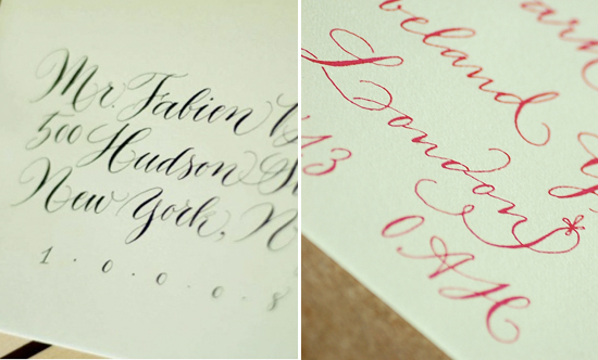 Emilie Friday calligraphy detail swashes