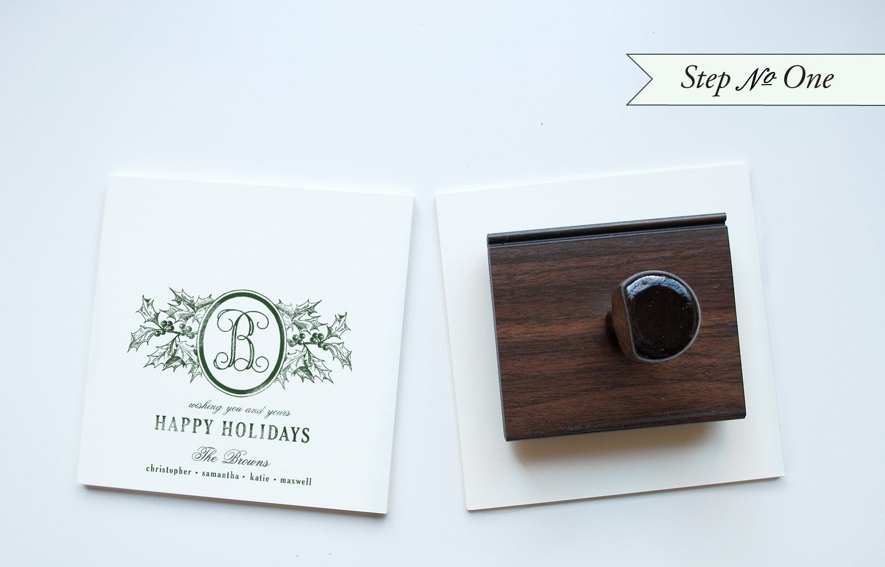diy rubber stamp holiday cards
