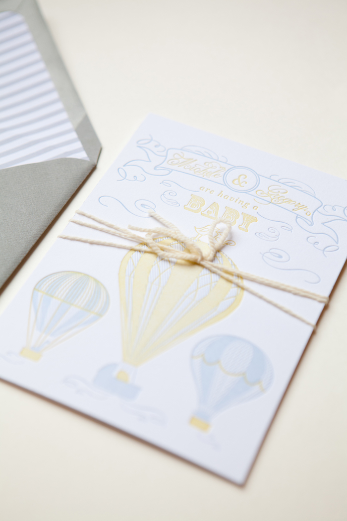 michele s hot air balloon baby shower invitations