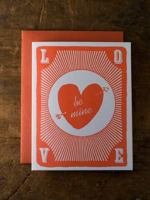Wildhorse Letterpress Valentine 300x400 Seasonal Stationery: Valentines Day Cards, Part 2