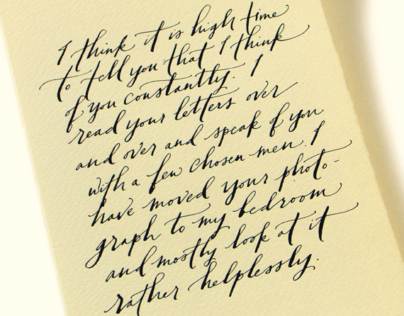 Calligraphy inspiration paperfinger