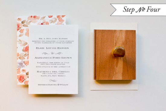 DIY Tutorial: Floral Watercolor Wedding Invitations