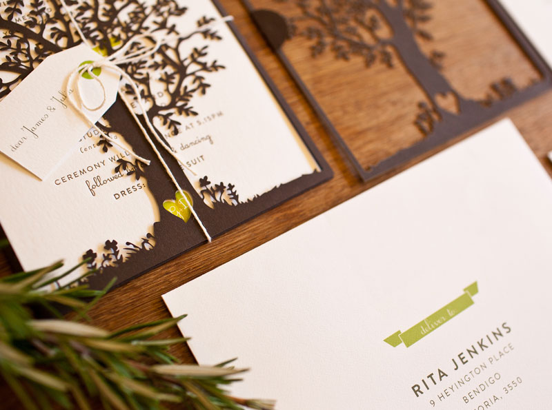 georgie  dave's natureinspired wedding invitations, Wedding invitations