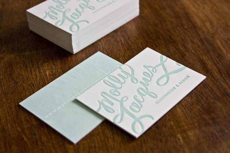 Molly jacques calligraphy business cards artwork colourmoves Gallery