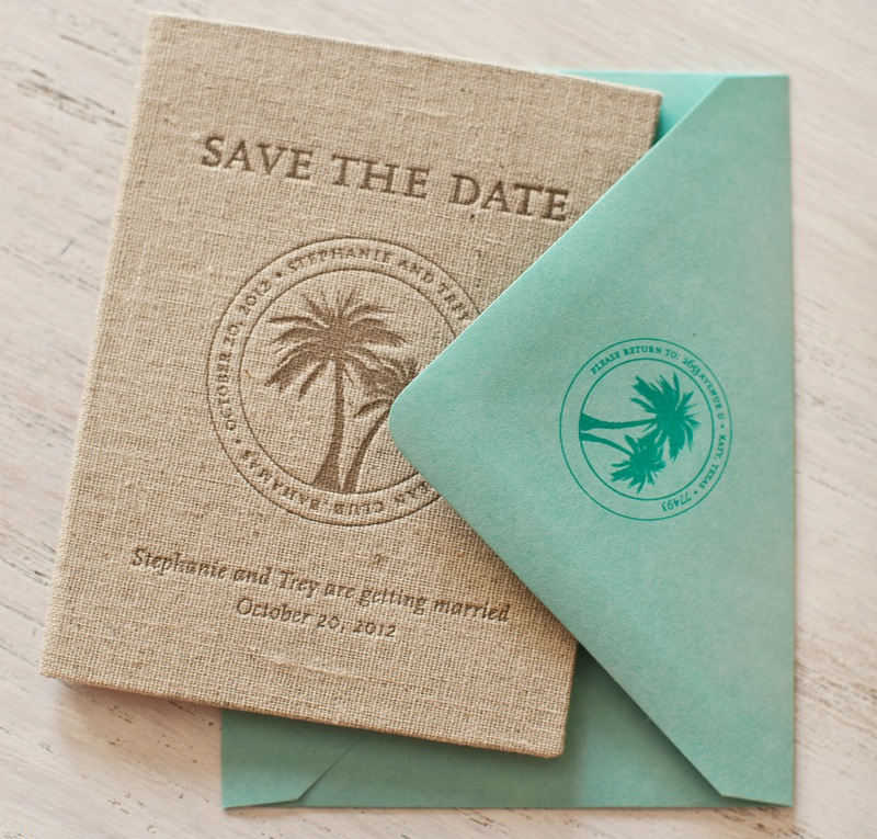 Stephanie Treys Tropical Passport Save the Dates – Save the Date Wedding Etiquette