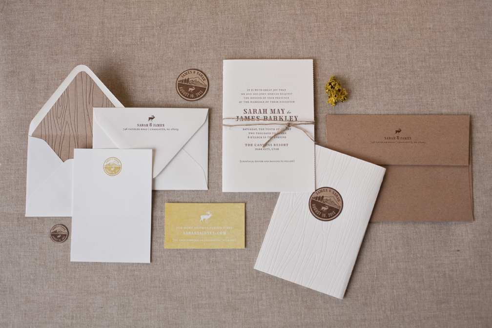 Modern Wedding Invitations from Alee + Press