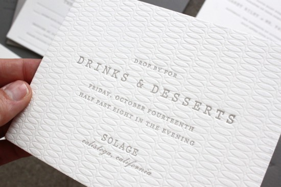 Understated Gray + White Wedding Invitations by Sideshow Press via Oh So Beautiful Paper (6)