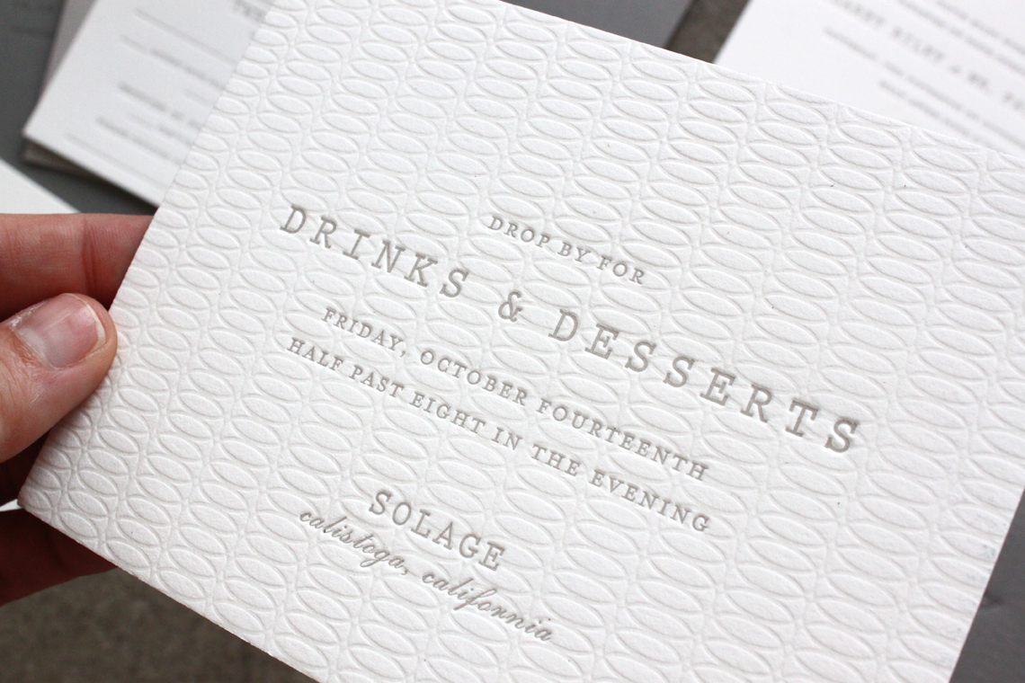 Understated Gray White Wedding Invitations By Sideshow Press Via Oh So Beautiful Paper 6