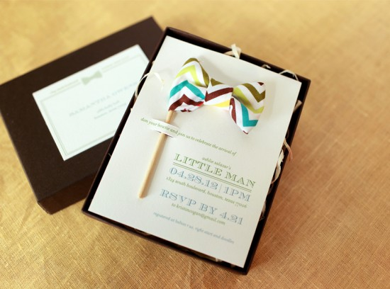 Little Man Baby Shower Invitations and Details by Atheneum Creative via Oh So Beautiful Paper (13)