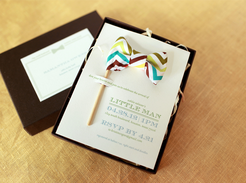 Little man bow tie inspired baby shower invitations filmwisefo