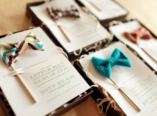 Little Man Baby Shower Invitations and Details by Atheneum Creative via Oh So Beautiful Paper (11)