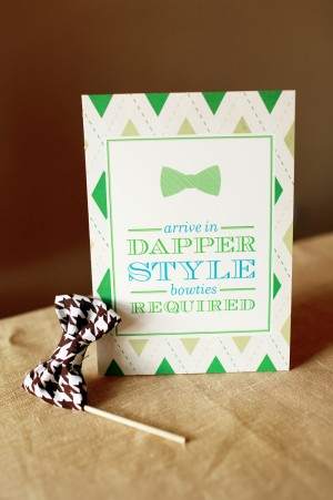 Little Man Baby Shower Invitations and Details by Atheneum Creative via Oh So Beautiful Paper (5)