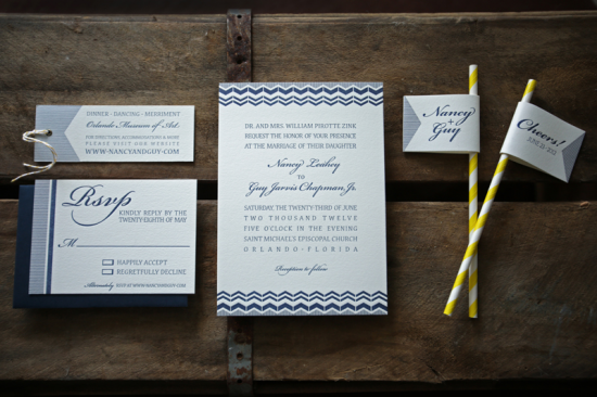 Modern Navy Wedding Invitations by Plane Paper via Oh So Beautiful Paper (6)