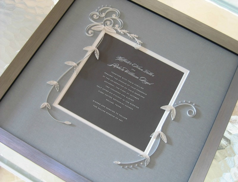 Framing A Wedding Ring