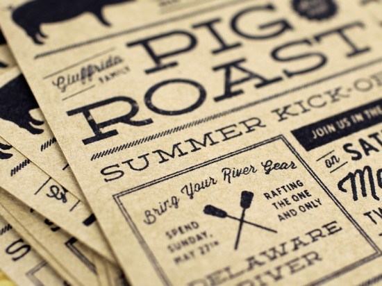 Rubber Stamp Memorial Day Kick Off Party Invitations by McMillian + Furlow via Oh So Beautiful Paper (1)