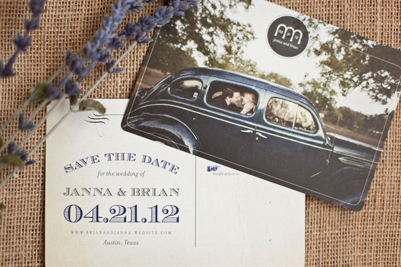 Janna + Brian'S Vintage-Inspired Wedding Stationery