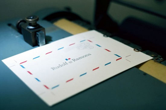 Airmail Wedding Announcements by Campbell Raw Press via Oh So Beautiful Paper (1)