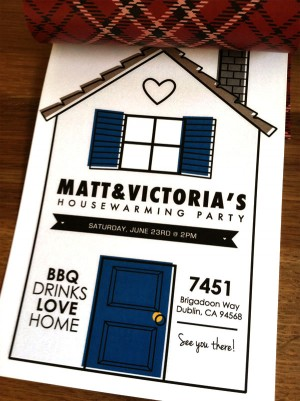 Housewarming Party Invitations by Victory Paper Designs via Oh So Beautiful Paper (5)