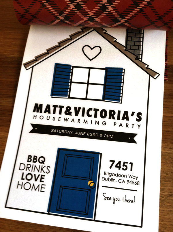 victoria 39 s housewarming party invitations. Black Bedroom Furniture Sets. Home Design Ideas