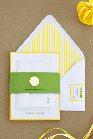Wedding Invitations By Lavender Blue Via Oh So Beautiful Paper 9