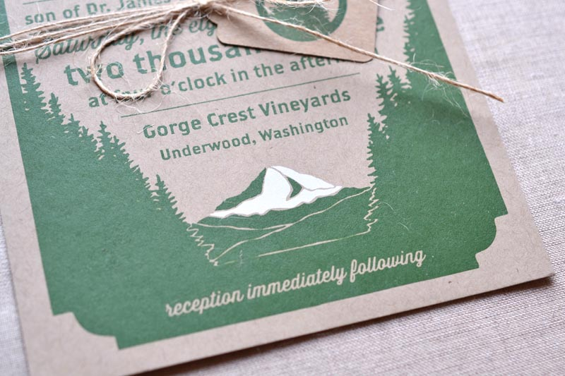 christy matteo s screen printed woodland wedding invitations