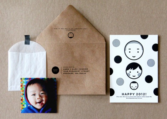 Baby Announcement by The Indigo Bunting via Oh So Beautiful Paper