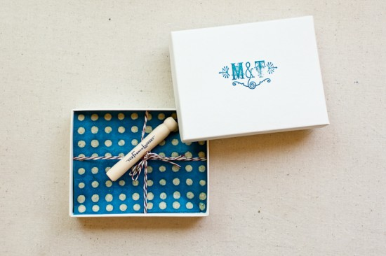 DIY Rubber Stamp Wedding Invitations and Save the Dates via Oh So Beautiful Paper (6)