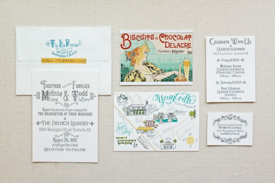 DIY Rubber Stamp Wedding Invitations and Save the Dates via Oh So Beautiful Paper (1)