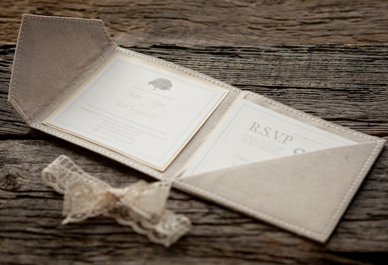 Wedding Invitation Lace: Joanie + Todd's Romantic Linen And Lace Wedding Invitations