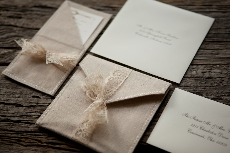 Joanie todds romantic linen and lace wedding invitations the blue envelope wedding invitations via oh so beautiful paper 10 solutioingenieria Choice Image