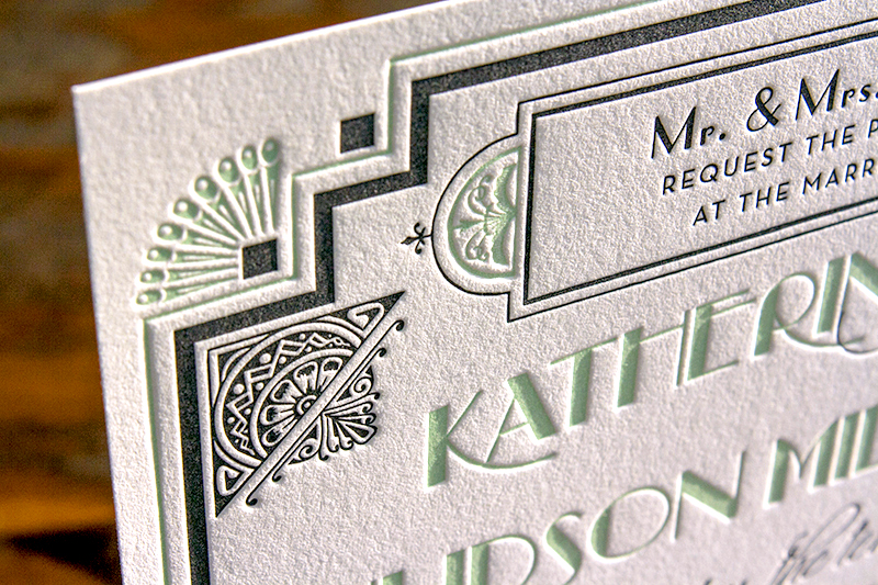 Great GatsbyInspired Art Deco Wedding Invitations – Art Deco Party Invitations