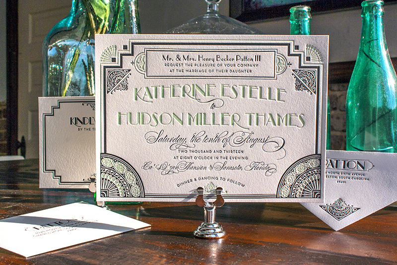 Great GatsbyInspired Art Deco Wedding Invitations