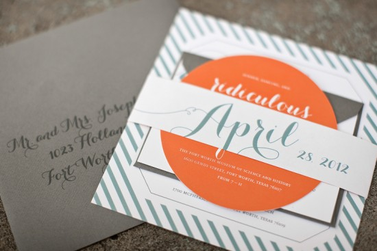 Modern Wedding Invitations by Atheneum Creative via Oh So Beautiful Paper (11)