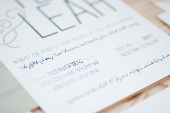 Modern Vineyard Wedding Invitations by Anastasia Marie Cards via Oh So Beautiful Paper (4)
