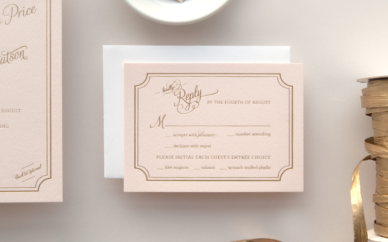 Textured Paper For Wedding Invitations: Lindsey + Bradley's Elegant Pink And Gold Foil Wedding