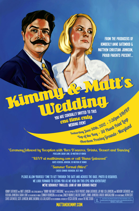 Matt Kimmy S Illustrated Movie Poster Wedding Invitation