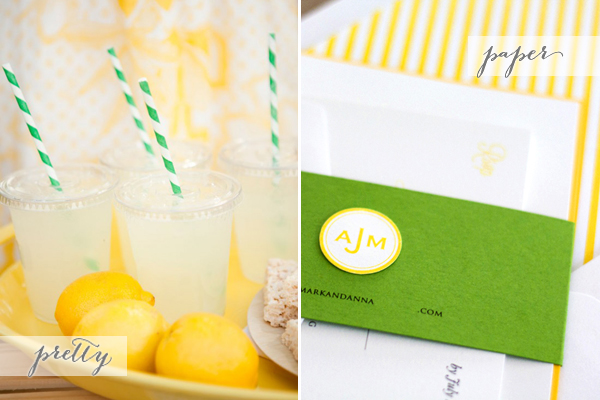 Pretty + Paper: Lemonade and Stripes via Oh So Beautiful Paper