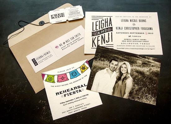 Rustic Modern Wedding Invitations by Em-press Design via Oh So Beautiful Paper (7)