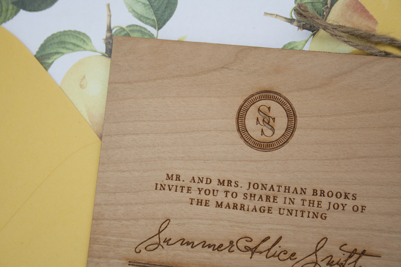 Elegant and Rustic Wood Engraved Wedding Invitations – Wood Invitations Wedding