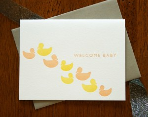 Welcome Baby Notecard by Letter & Lark