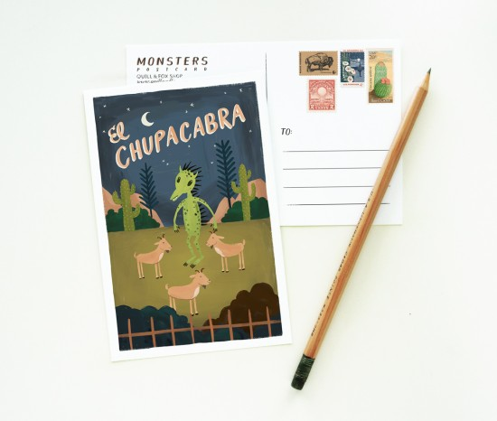 Quill and Fox Illustrated Stationery Postcard 550x466 Illustrated Stationery from Quill + Fox