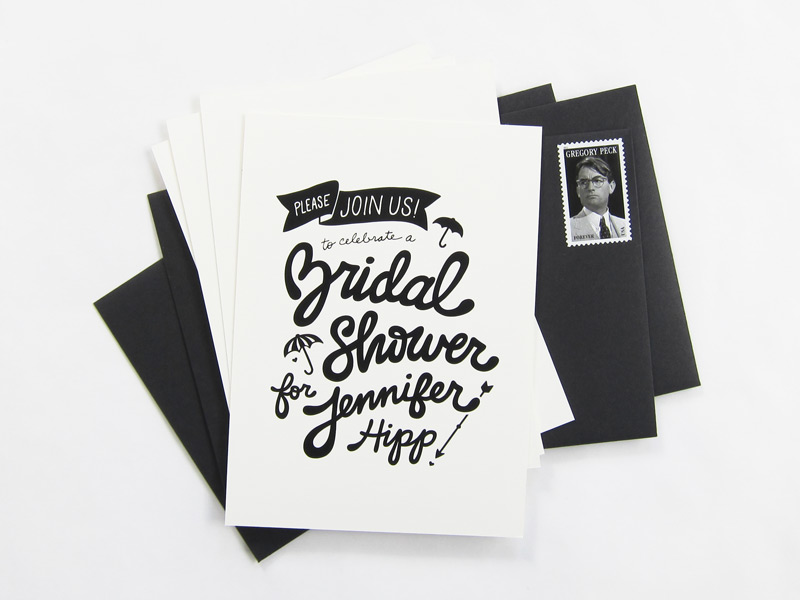 Black white bridal shower invitations filmwisefo